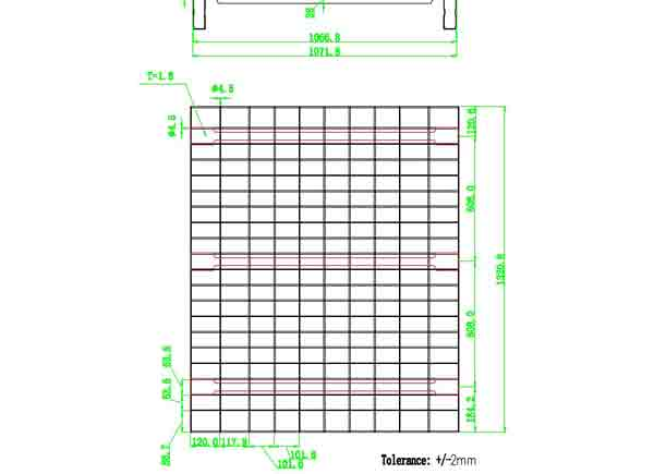 wire mesh decking channel